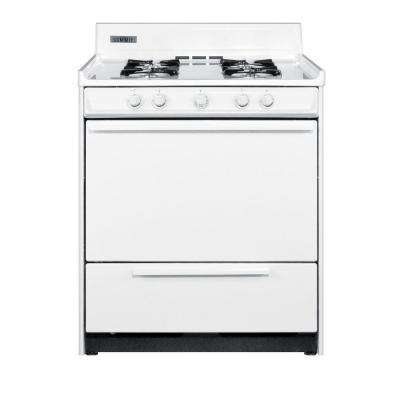 30 in. 3.7 cu. ft. Gas Range in White
