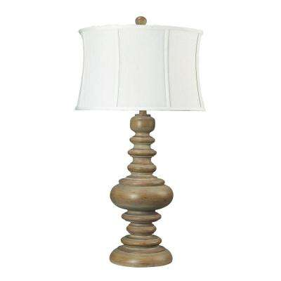 36 In. Moniac Bleached Wood Table Lamp