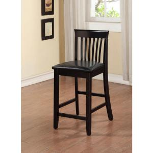 Linon Home Decor Torino 24 In Black Cushioned Bar Stool