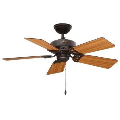 42 in. Indoor Hudson New Bronze Ceiling Fan