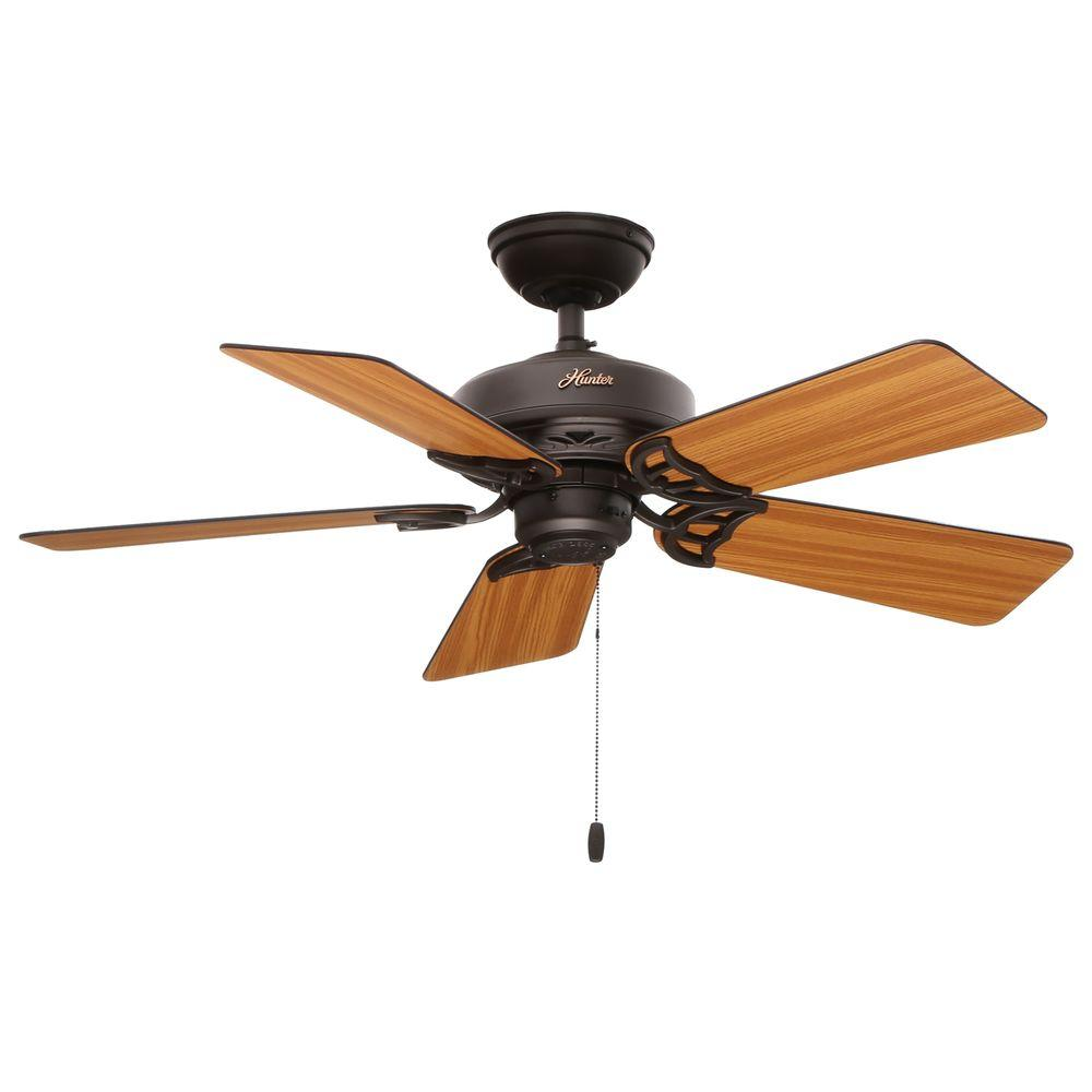 Hunter hudson 42 ceiling fan ceiling fans compare prices at nextag indoor hudson new bronze ceiling fan aloadofball Choice Image