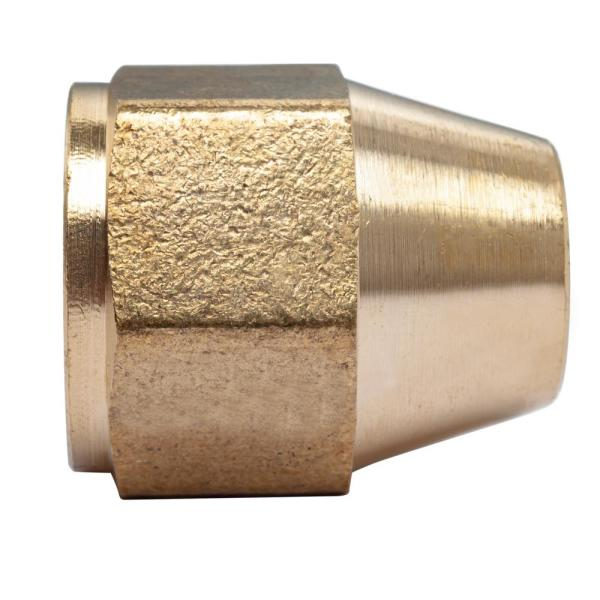 Midland 10-051 Brass SAE 45 Degree Flare Forged Reducing Nut 5//16 Female Flare x 1//4 OD 0.75 Hex 0.66 Length