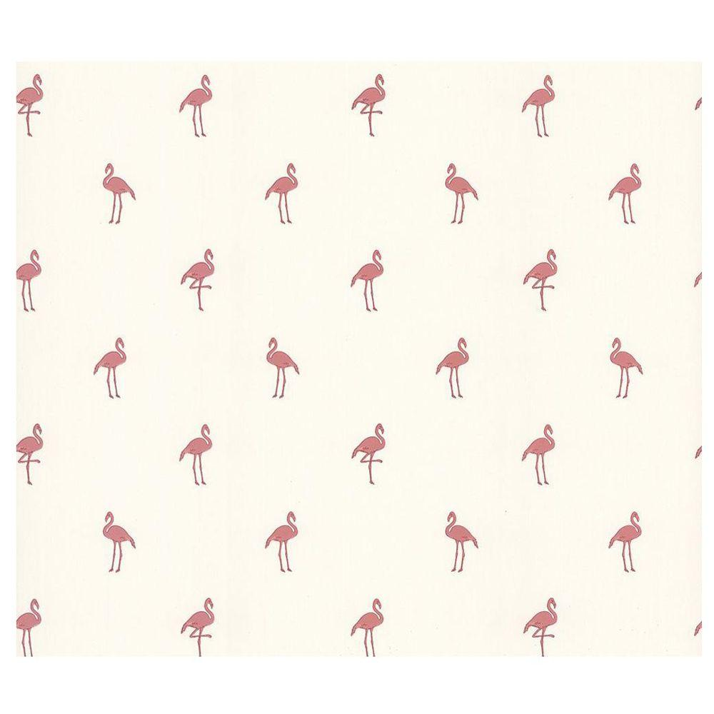 Brewster 56 sq. ft. Flamingo Wallpaper