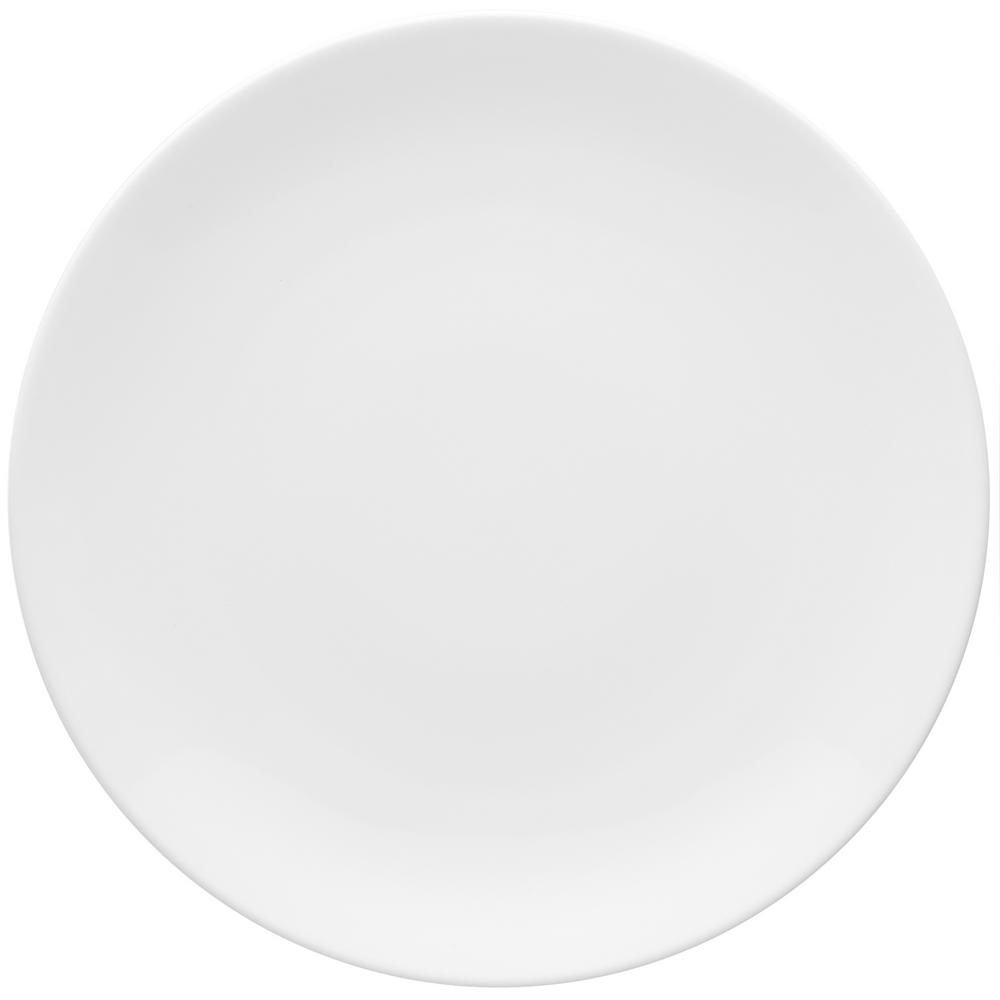 Manhattan Comfort 11.22 in. Coup White Dinner Plates (Set of 6) was $99.99 now $59.3 (41.0% off)