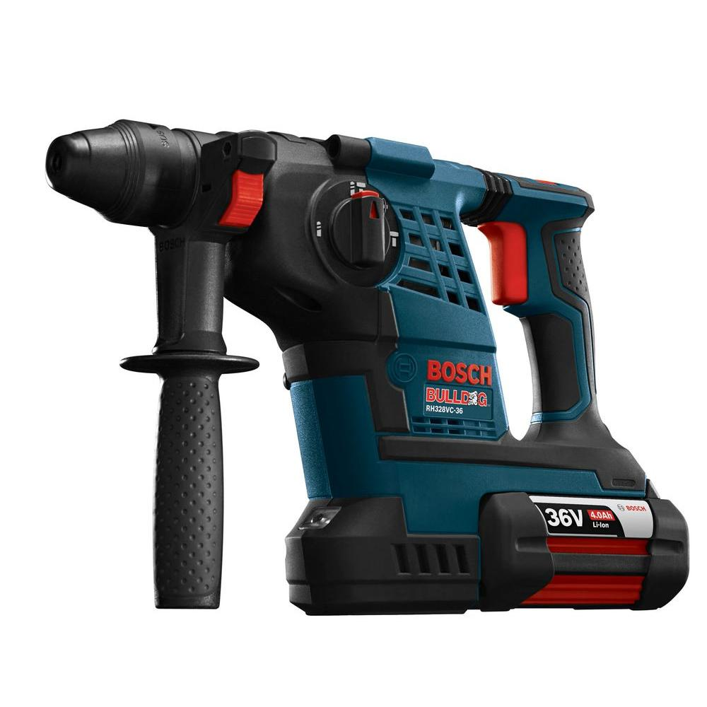bosch bulldog 36 volt lithium ion cordless 1 1 8 in sds plus variable speed rotary hammer with. Black Bedroom Furniture Sets. Home Design Ideas