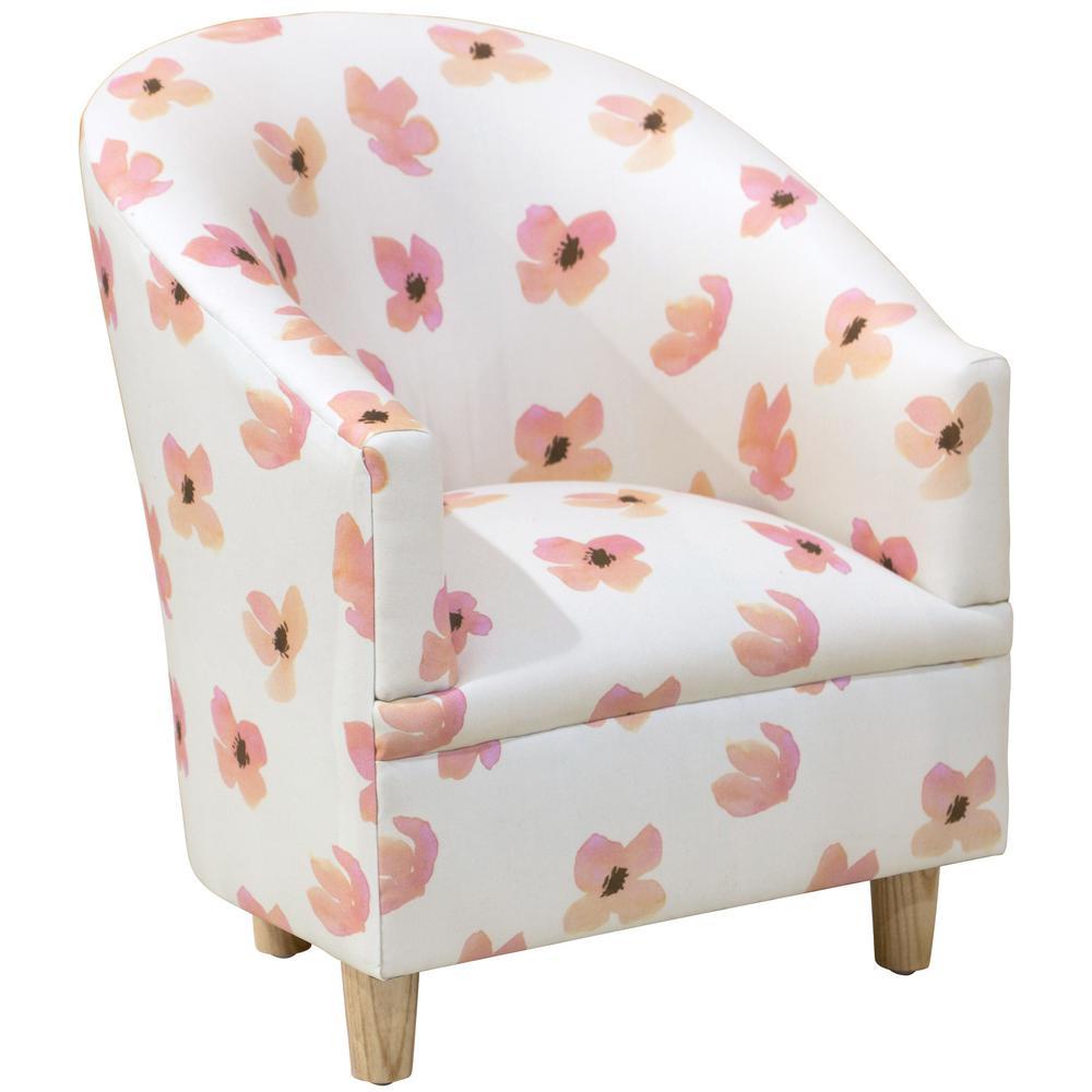 Floating Petals Pink Kid's Tub Chair