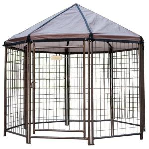 Low Profile 5 Ft Outdoor Pet Gazebo Dog Kennel 23200