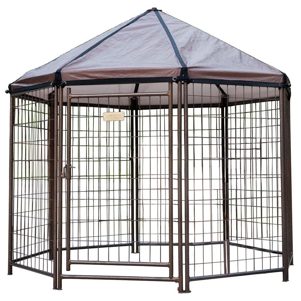 Low Profile 5 ft. Outdoor Pet Gazebo Dog Kennel