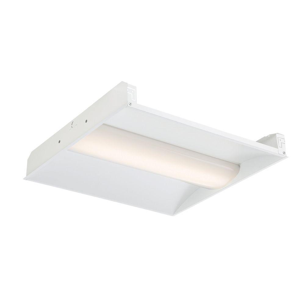 EnviroLite 2 ft. x 2 ft. LED Volumetric White Troffer (24-Pack)