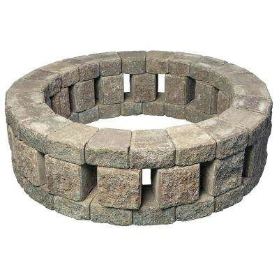 Stonehenge 58 in. x 16 in. Concrete Fire Pit Kit in Northwest Blend