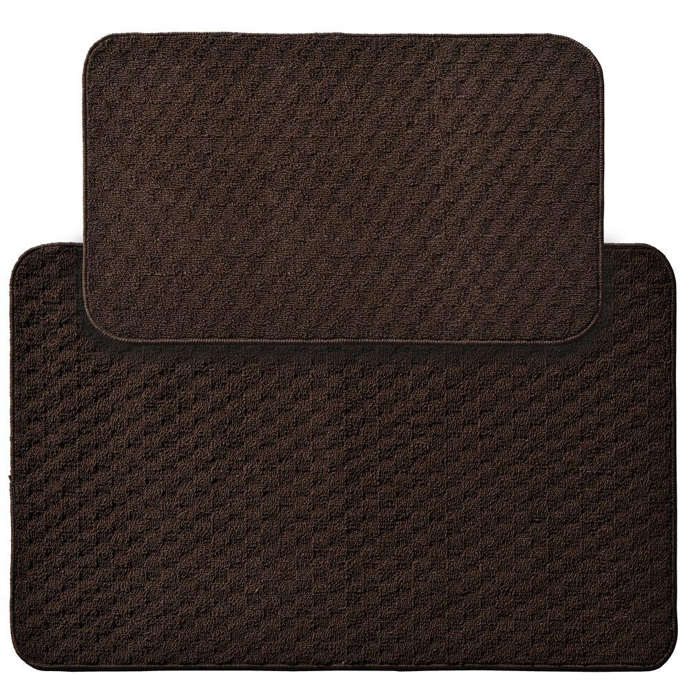 Town Square Mocha 2 ft. x 3 ft. 4 in. 2-Piece