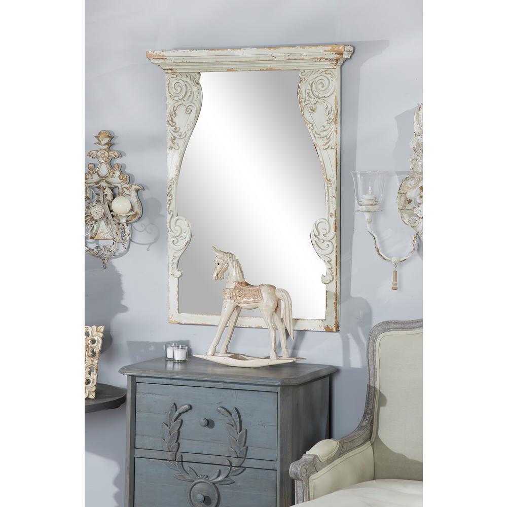 Wood Decorative Wall Mirror