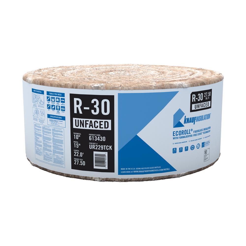 R-30 EcoRoll UnFaced Fiberglass Insulation Roll 10 in. x 15 in. x 22 ft.