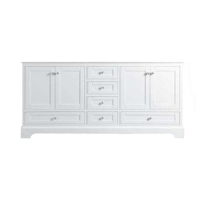 Audrey 71 in. W x 21 in. D Vanity Cabinet Only in White