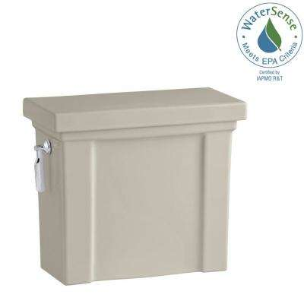 Tresham 1.28 GPF Single Flush Toilet Tank Only with AquaPiston Flushing Technology in Sandbar