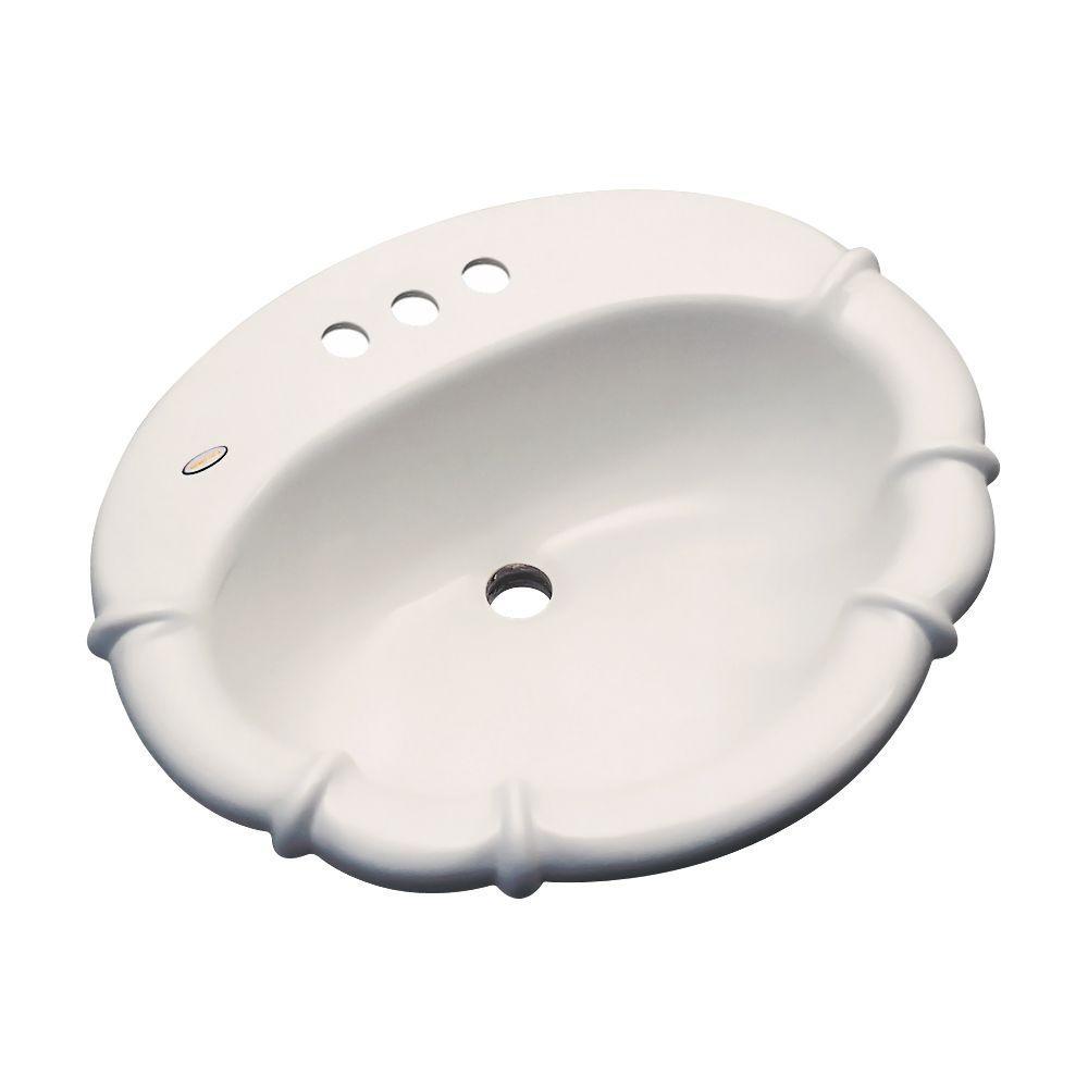 Magnolia Drop-In Bathroom Sink in Almond