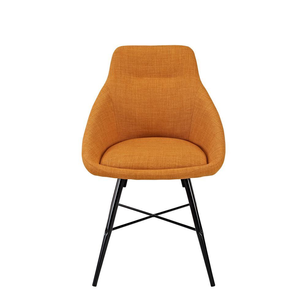 Orange Urban Upholstered Side Chair (Set of 2)