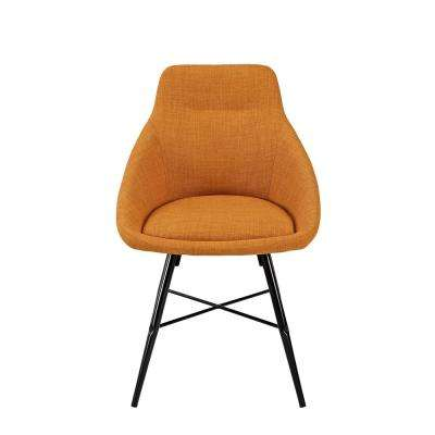 Orange Urban Upholstered Side Chair (Set of 2)