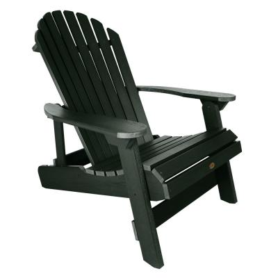King Hamilton Charleston Green Folding and Reclining Recycled Plastic Adirondack Chair