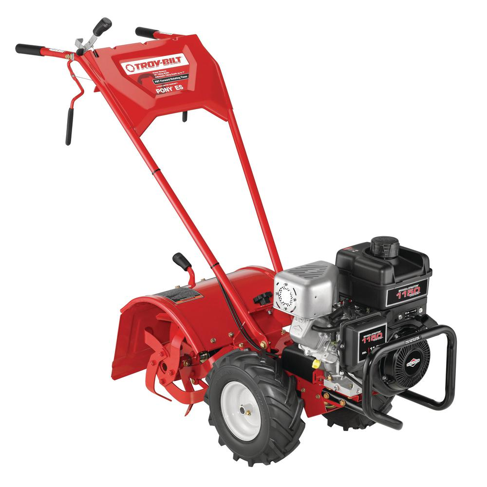 Troy-Bilt Pony 16 in  250 cc OHV Electric Start B&S Engine Rear-Tine  Forward-Rotating Gas Tiller with One Hand Operation