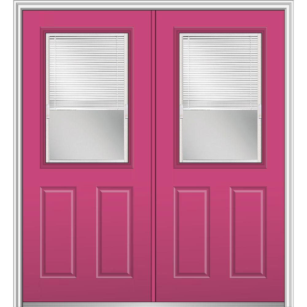 Double door front doors exterior doors the home depot - 28 inch exterior steel door for sale ...