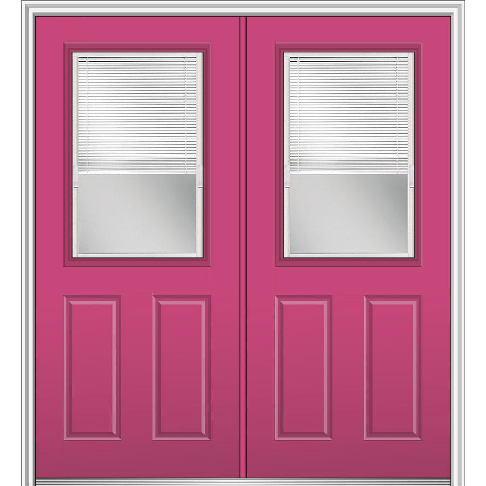 Mmi door 72 in x 80 in internal blinds clear glass right - Exterior door with blinds in glass ...