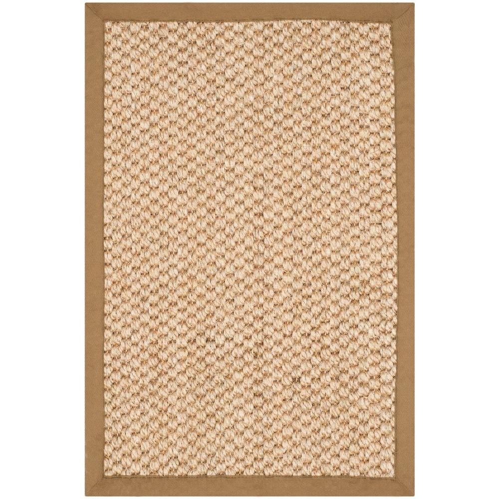 Natural Fiber Beige 2 ft. x 3 ft. Area Rug