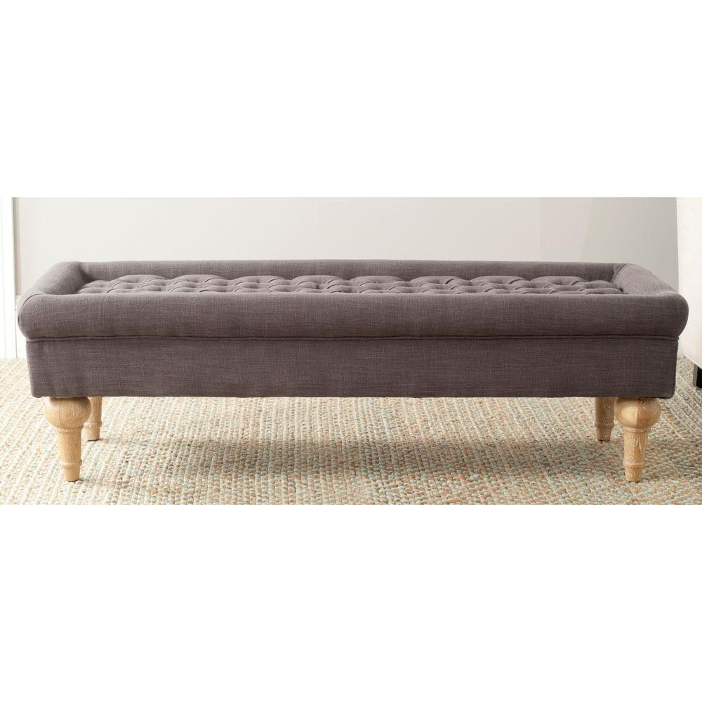 Safavieh Thadius Charcoal Brown Bench