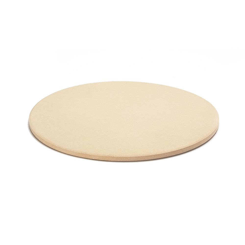 AILUROPODA 13 Round Pizza Stone Grill and BBQ Pizza Grilling Stone for Oven Thermal Shock Resistant Baking Stone with Bamboo Pizza Peel and Scraper(High Temperature Version)