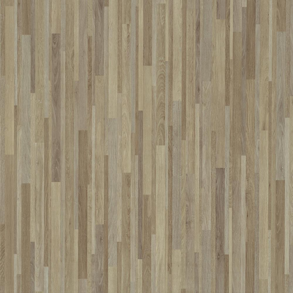 TrafficMASTER Take Home Sample - Taupe Banded Wood Peel and Stick Parquet Vinyl Tile Flooring 5 in. x 7 in.