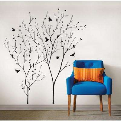 34.5 in. x 39 in. Bird's Eye View Wall Decal