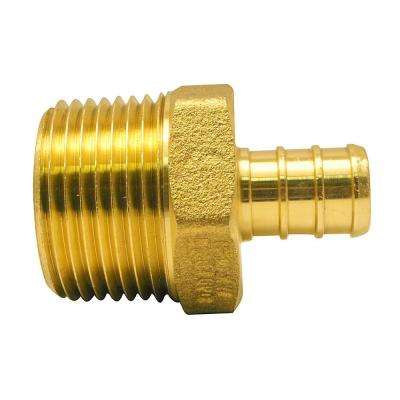 1/2 in. Brass PEX Barb x 3/4 in. Male Pipe Thread Reducing Adapter
