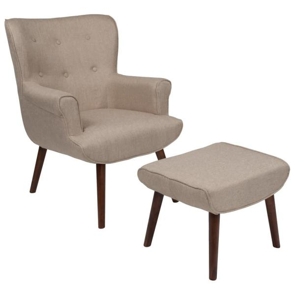 Flash Furniture Beige Fabric Arm Chair