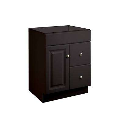 Wyndham 24 in. W x 18 in. D Ready to Assemble Bath Vanity Cabinet Only in Espresso