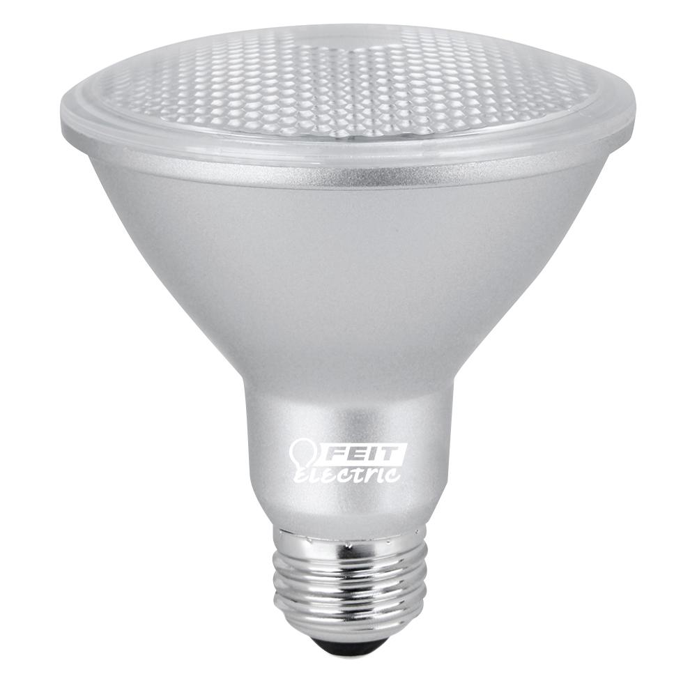 75W Equivalent Daylight (5000K) PAR30S Dimmable Spot LED Light Bulb (Case  sc 1 st  The Home Depot & Feit Electric 75W Equivalent Warm White PAR38 Spot LED Light Bulb ... azcodes.com
