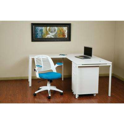 Tyler White And Blue Office Chair