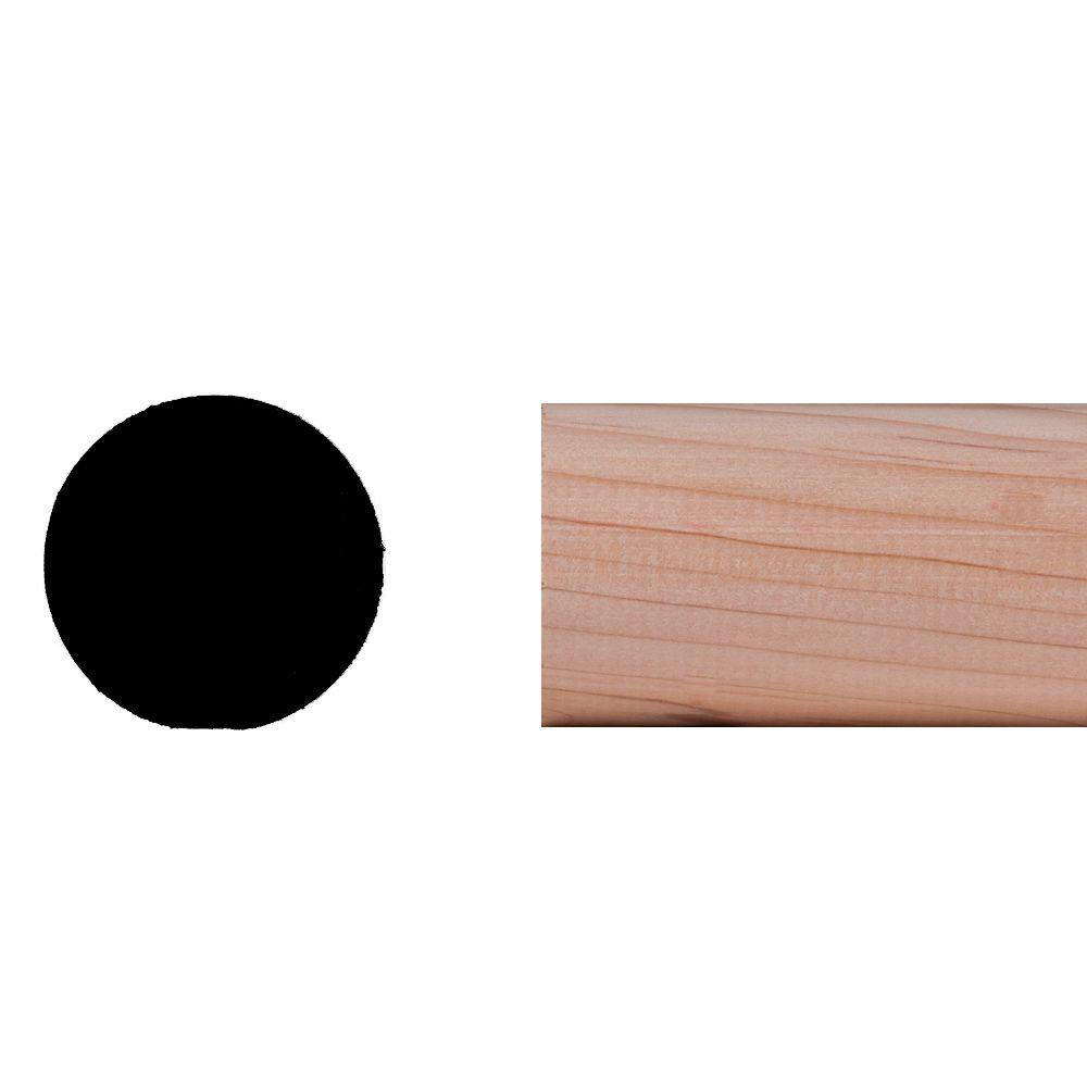 Builder\'s Choice WM 233 1-5/16 in. x 1-5/16 in. Hemlock Wood Full ...