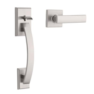 Tavaris Satin Nickel Handle Only without Deadbolt with Vedani Door Lever