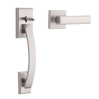 Tavaris Satin Nickel Handle Only without Deadbolt with Vedani Lever