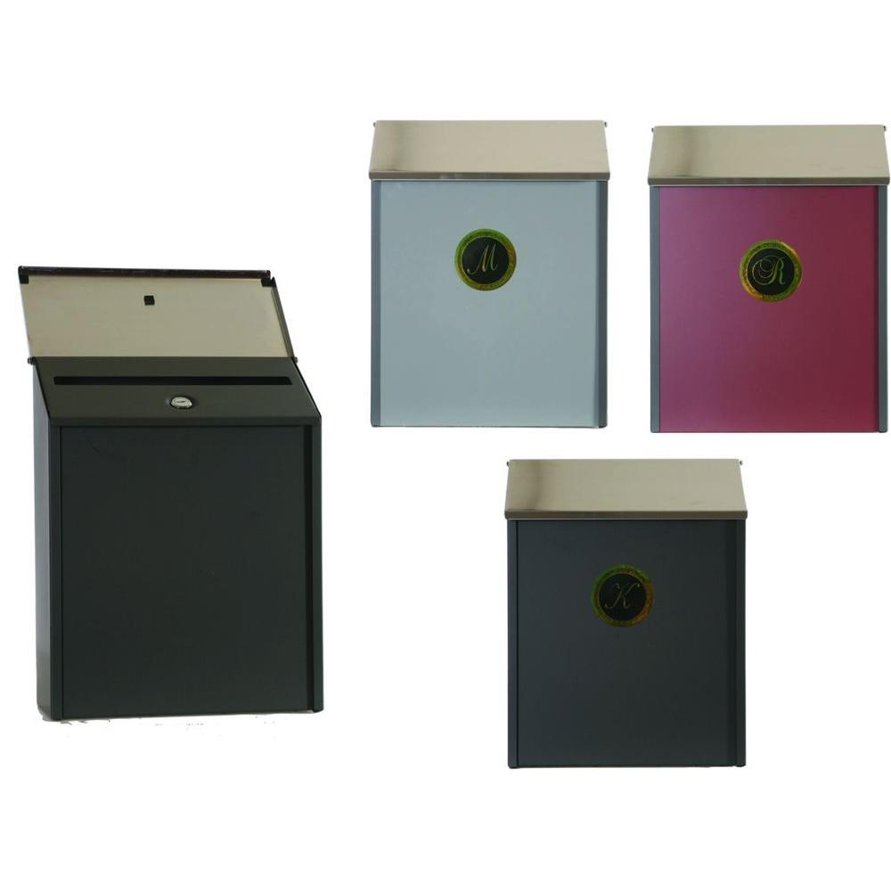 Gibraltar Mailboxes Park Avenue Locking Vertical Steel Wall Mount Mailbox in Bronze, Cranberry and Gray-DISCONTINUED