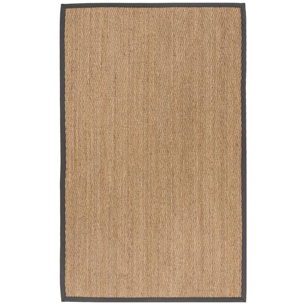 Natural Fiber Beige/Dark Gray 4 ft. x 6 ft. Indoor Area Rug