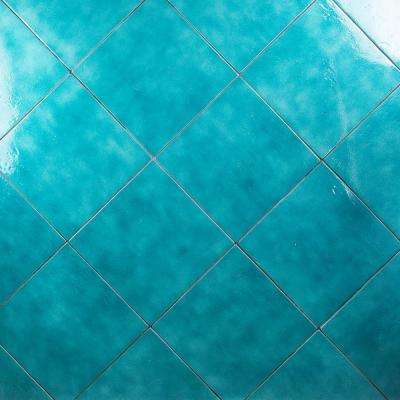 Appaloosa Carribean Blue 14 in. x 14 in. 10mm Polished Porcelain Floor and Wall (8-piece 10.76 sq. ft. / box)