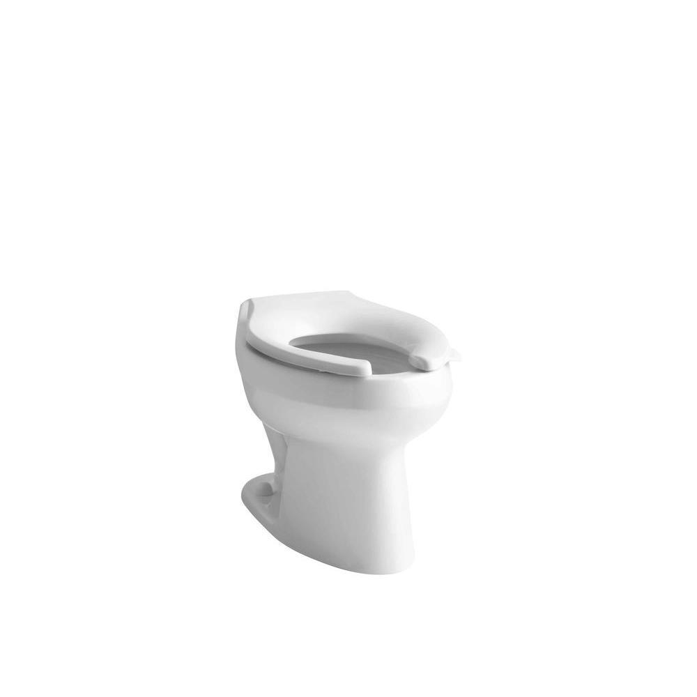 KOHLER Wellworth Elongated Toilet Bowl Only in White