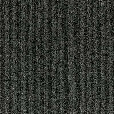 Premium Self-Stick Design Smart Black Ice Rib 18 in. x 18 in. Indoor/Outdoor Carpet Tile (10 Tiles/22.5 sq. ft./case)