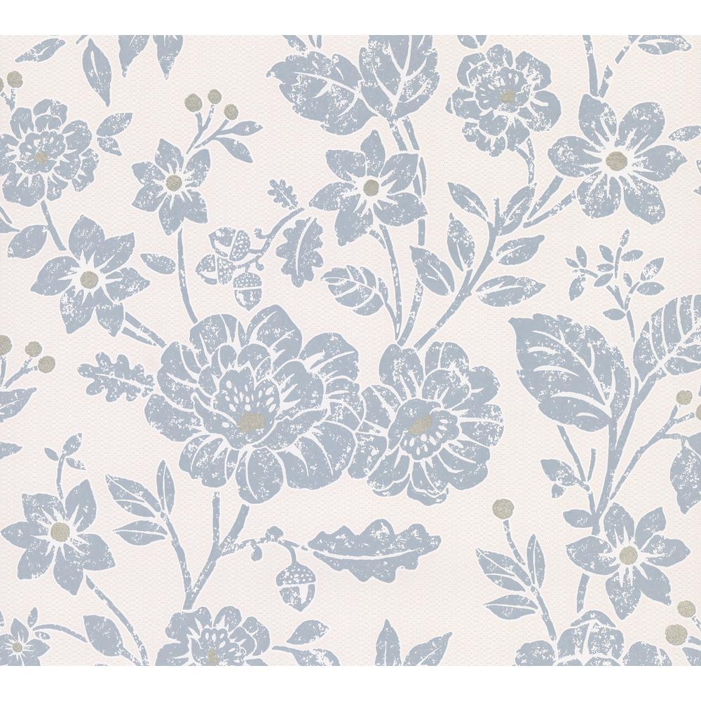 Advantage Bourdain Slate Floral Wallpaper Sample 2813-M1350SAM