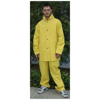 3-Piece PVC/Polyester Rain Suit in Large
