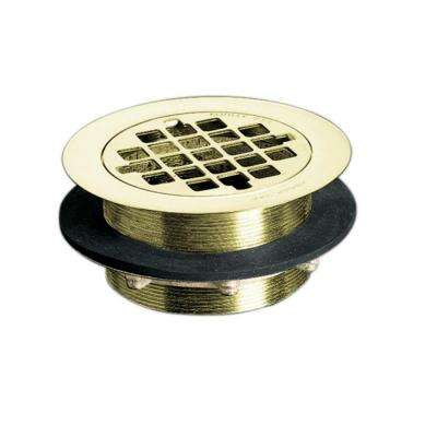 Brass Shower Drain in Vibrant French Gold