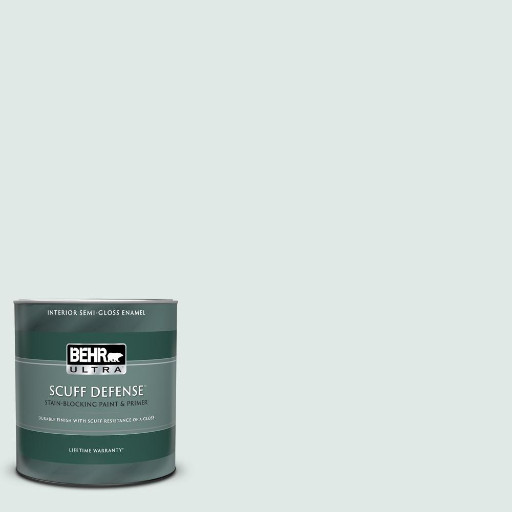 Reviews For Behr Ultra 1 Qt Ppu13 17 Fresh Day Extra Durable Semi Gloss Enamel Interior Paint Primer 375004 The Home Depot