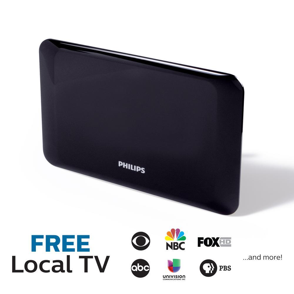 Flat Panel HDTV Antenna Full HD 1080P 4K Ready Extendable Dipoles
