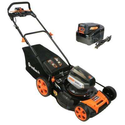 21 in. 120-Volt Lithium-Ion Battery Walk Behind Push Mower - 3.0 Ah Battery/Charger Included